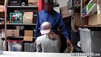 Security Officer Fucks Sexy Teen Thief In Excha...