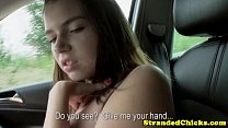 Big titted hitch hiking teen loves cock Thumbnail