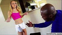 Beautiful babe Hollie gets her cute pussy destr...