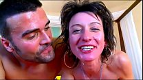 A milf brunette make kissed in wood Thumbnail