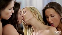 Cazy Sexy Lesbian foursome with Tracy Lindsay &... Thumbnail
