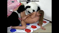 playing with teddy bear ran hot sex