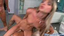 Young eurobabe DP fucked in threesome