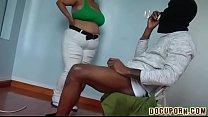 Latina slut sucking a big black dick