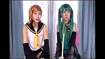 Hatsune Miku and Kagamine Rin cosplay xxx