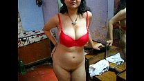 Bengali Indian Bhabhi Sexy Savita In Red Lingerie Thumbnail