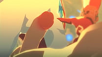 link and mipha legend of zelda breathe of the w...
