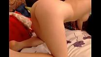 Babe teasing her ass on cam Thumbnail
