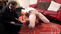 Sexy damsel in distress Amber West in bondage a...