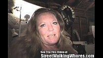 Skank Hooker Gives Barfing Blowjob