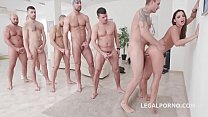 7on1 DAP Gangbang with Balls Deep Anal Princess...