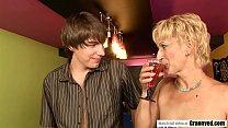 Bartender fucks a MILF pussy
