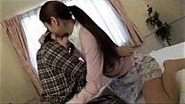 Girl In Pijama Kissing Passionately Sucking Ton...