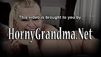 Old woman takes creampie