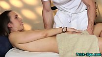 Massaged babe fingered