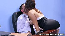 Brazzers - Office stocking threesome Thumbnail