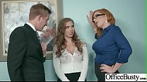 Sex In Office With Big Round Tits Girl (Lauren ...