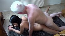 Schoolgirl fucked at home by horny old man the ...