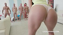 7on1 Double Anal GangBang with IncredibleTina K...