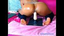 Mature Latina oiled up Twerking on Toy - freaky...