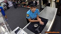 Latina police lady blows and fucks pawnshopowne...
