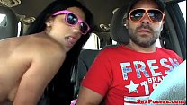 Homevideo of amateur fucking in a car
