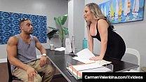 Hot Tutor Carmen Valentina Gets Big Black Cock ...