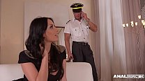 Anal inspectors Donna Bell & Anissa Kate share big veiny cock in threesome's Thumb