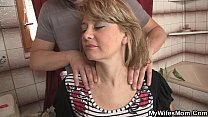 Download video bokep Wife comes out and he bangs her hot mom 3gp terbaru