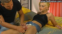 Lala Princess the hot blondie jumps on the big ...
