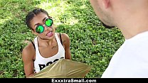 ExxxtraSmall - Petite Ebony Bounces On A Stiff ...