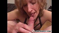 Amateur Mom gives blowjob with cumshot in mouth Thumbnail