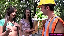 Teen conservationists fuck a construcion to sav...