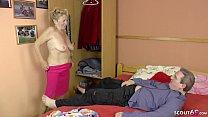 75yr old GERMAN GRANNY USCHI SEDUCE YOUNG MEN T...