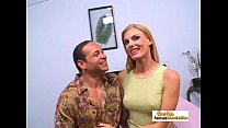 Skinny blonde MILF enjoys a big fat boner insid... Thumbnail