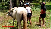 Real amateur teens heather deep and girlfriend LOVE HORSE COCK thumbnail