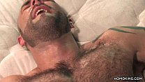 Hairy muscular men having sex Thumbnail