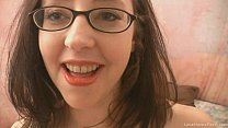Screenshot Nerdy Amateur B runette Gets Down And Dirty wn And Dirty