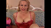 Beautiful mature blonde is a squirter)