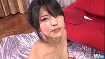 Eririka Katagiris pinches her perky titty and s... Thumbnail