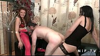 FFM French man sodomized by 2 hotties with thei...