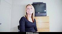 POVLife - Blonde Girlfriend's First Sex Tape Thumbnail