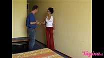 Petite arab teen is getting pounded by the dutch handyman!