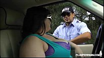 Big Tit BBW Bille Austin is Pulled Over and Fuc...