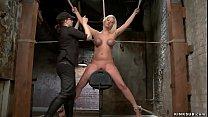 Big tits spreaded blonde slave zaned