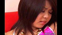 Hot Japanese teen sucks and fucks Uncensored