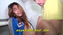 Tattooed Car Sales Girl In Asian Showroom
