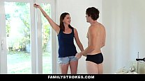 FamilyStrokes - Cute Step-Sister Gets Double Pe...