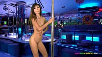 Skinny Thai teen auditions for job on casting c...