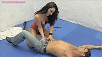 Psycho GoGo Dancer Ballbusting and Face Sitting